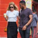 Doutzen Kroes and husband Sunnery James – out in SoHo - 454 x 754