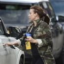 Coleen Rooney – In camo Out and about in Cheshire - 454 x 564