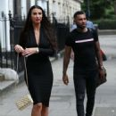 Alice Goodwin in Black Ttight Dress – Eexits 'Celebs Go Dating' with Jermaine Pennant in London - 454 x 628