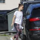 Minka Kelly in Tights hitting the gym in Los Angeles - 454 x 547