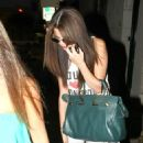 Selena Gomez got her hair chemically straightened today at a hair salon in West Hollywood, California on July 19, 2013 - 454 x 603
