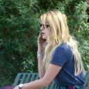 Mischa Barton Walks Her Dogs in Laurel Canyon Park