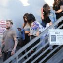 Selena Gomez leaves Nine Zero hair salon in West Hollywood, California on July 13, 2016