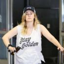 Ashley Johnson at LAX airport in Los Angeles - 454 x 625