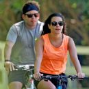 Lea Michele – Bike Riding in The Hamptons - 454 x 623