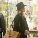 Rosie Huntington-Whiteley was seen holding her pregnant belly while shopping at ABC Carpet & Home store in New York City, New York on April 6, 2017 - 454 x 591