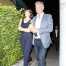 Katharine McPhee and David Foster – Arriving to the Simon Cowell 'Hollywood Star Celebration Party' in LA - 454 x 660