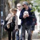Stepping out with his baby for the first time, Chris Hemsworth was spotted with his bundled up newborn daughter and his wife in London, England on Wednesday (May 16)