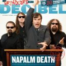 Barney Greenway, Shane Embury, Mitch Harris, Danny Herrera - Decibel Magazine Cover [United States] (March 2009)