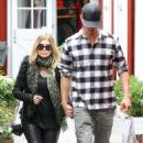 Fergie and Josh Duhamel enjoy breakfast at the Brentwood Country Mart before heading over to LACMA to check out some art on their busy Sunday morning in Los Angeles, California on January 27, 2013