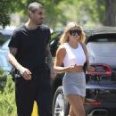 Sofia Richie – In a grey mini skirt out in Calabasas