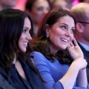Prince Harry, Meghan Markle, Catherine, Duchess of Cambridge and Prince William, Duke of Cambridge attend the first annual Royal Foundation Forum
