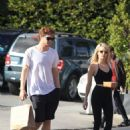 Evan Peters and Emma Roberts – Out in Beverly Hills 10/17/ 2016 - 454 x 681