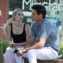 Emma Roberts and John Stamos – On the Set of 'Scream Queens' in LA 7/27/2016 - 454 x 515