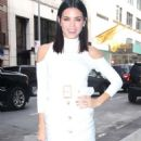 Jenna Dewan Tatum in White Dress out in New York City