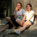 Emma Watson - Relaxing On The Steps At Brown University, 5. 9. 2009.