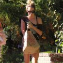 Ashley Tisdale Returns Home In Toluca Lake