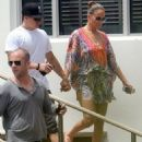 Jennifer Lopez was spotted with Casper Smart in Miami Beach, FL on Friday afternoon (August 31)