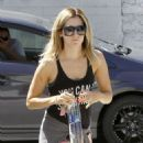 Ashley Tisdale Goes To Her Pilates Class In Studio City