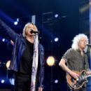 Def Leppard performs at the 2019 Rock & Roll Hall Of Fame Induction Ceremony - Show at Barclays Center on March 29, 2019 in New York City