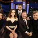 Adam Driver, Daisy Ridley, Rian Johnson and Mark Hamill at Jimmy Kimmel Live! in Los Angeles
