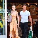 Brie Larson in Long Summer Dress – Shopping in Calabasas