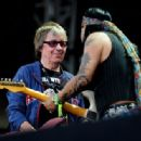 Bill Wyman performs with Micki Free during day 2 of the Hard Rock Calling festival held in Hyde Park on June 26, 2010 in London, England - 454 x 316