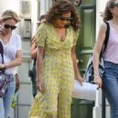 Minnie Driver in Yellow Dress – Out in London