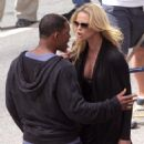 "Charlize Theron Filming And On The Set Of ""Hancock"" In Hollywood (with Will Smith) 2007-09-11"