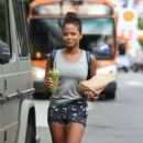 Christina Milian in Shorts Out in Los Angeles