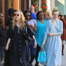 Elle Fanning in Blue Dress – Shopping on Rodeo Drive in Beverly Hills