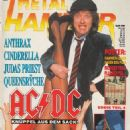 Angus Young - Metal&Hammer Magazine Cover [Germany] (January 1991)