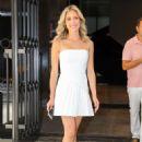 Kristin Cavallari in White Mini Dress – Out in New York City - 454 x 681