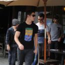 The Jonas Brothers get together for lunch at Kings Road Cafe in West Hollywood on September 5, 2012