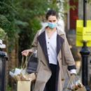 Lily James – Shopping candids near her Primrose Hill home - 454 x 681