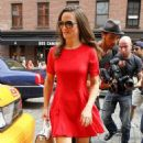 Pippa Middleton: out of a taxi in front of Soho House in New York City