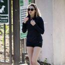 Elizabeth Olsen – Hiking in Los Angeles 1/24/ 2017