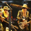 Dusty Hill and Billy Gibbons of ZZ Top perform live on stage at Allphones Arena on March 12, 2013 in Sydney, Australia
