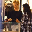 Rosie Huntington-Whiteley doing some last minute Christmas shopping at Barneys New York in Beverly Hills, California on December 22, 2014