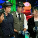 Rupert Grint, James Phelps, and Oliver Phelps were guests on today's episode of El Hormiguero, in Madrid, Spain