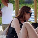 Lindsay Lohan at Lohan Beach Club in Mykonos