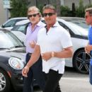 Sylvester Stallone goes for a stroll with friends in Beverly Hills on April 6, 2016 - 454 x 349