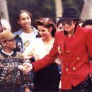 Michael Jackson and wife Lisa Marie Jackson