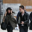 Jessica Szohr and Ed Westwick were spotted grabbing some lunch together in New York City today (February 19).