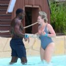 Iskra Lawrence and Philip Payne at Mountain Creek Water Park in New Jersey - 454 x 513