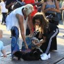 Zendaya Coleman is seen shopping with her mom and dog at the Grove in Los Angeles, California on August 12, 2016 - 454 x 426