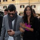 Rosario Dawson And Mathieu Schreyer At The Trinita Dei Monti