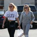 Chloe Moretz gets her nails done in Beverly Hills