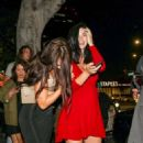 Jayde Nicole in Red Dress – Night Out in Los Angeles