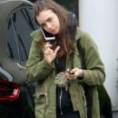Lily Collins at Starbucks in West Hollywood - 454 x 681
